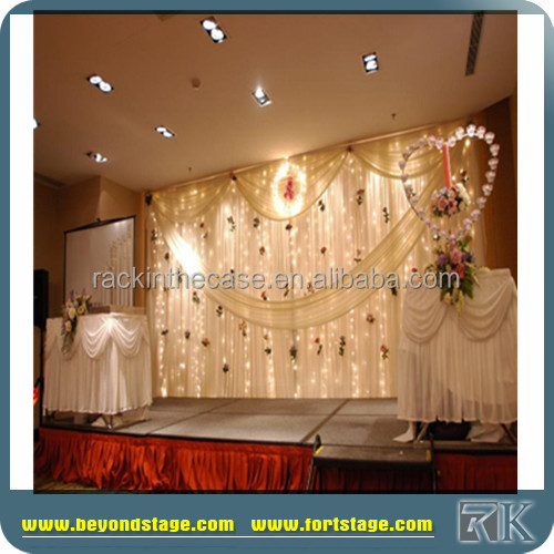 cheap stage drapery/flower wall backdrop/innovative systems pipe and drape for wedding