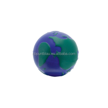 Anti foam custom earth shaped printed PU releasing stress ball