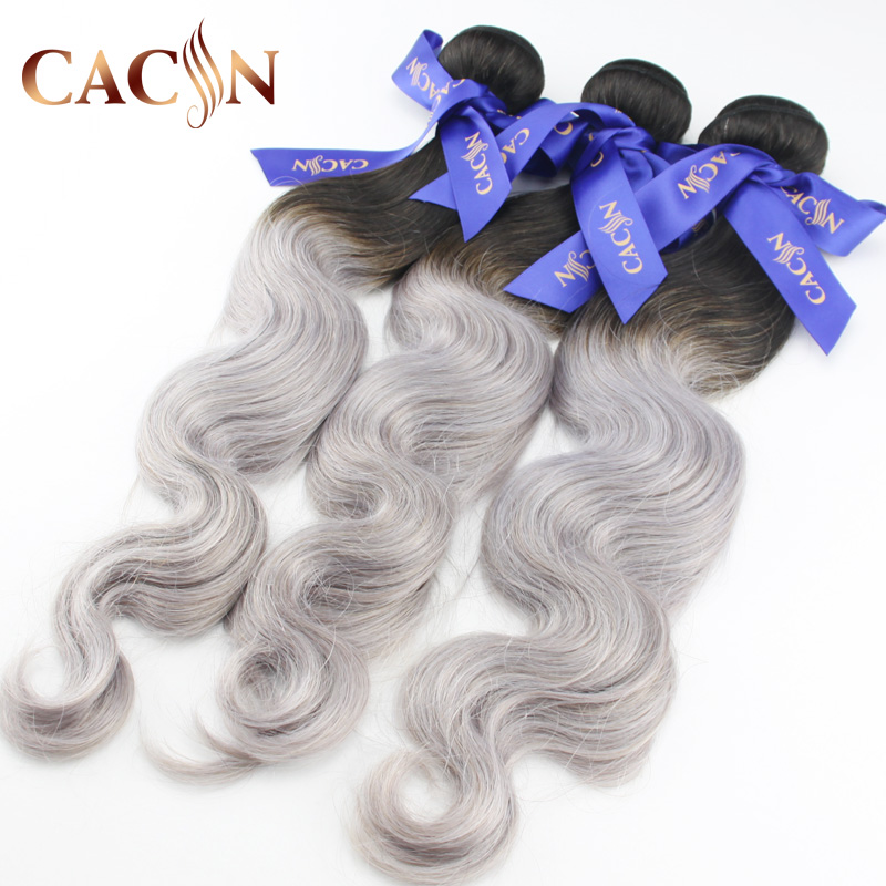 New product 2018 brazilian hair ombre wholesale 1b gray two tone human hair <strong>weave</strong>,New Star unprocessed cuticle aligned hair
