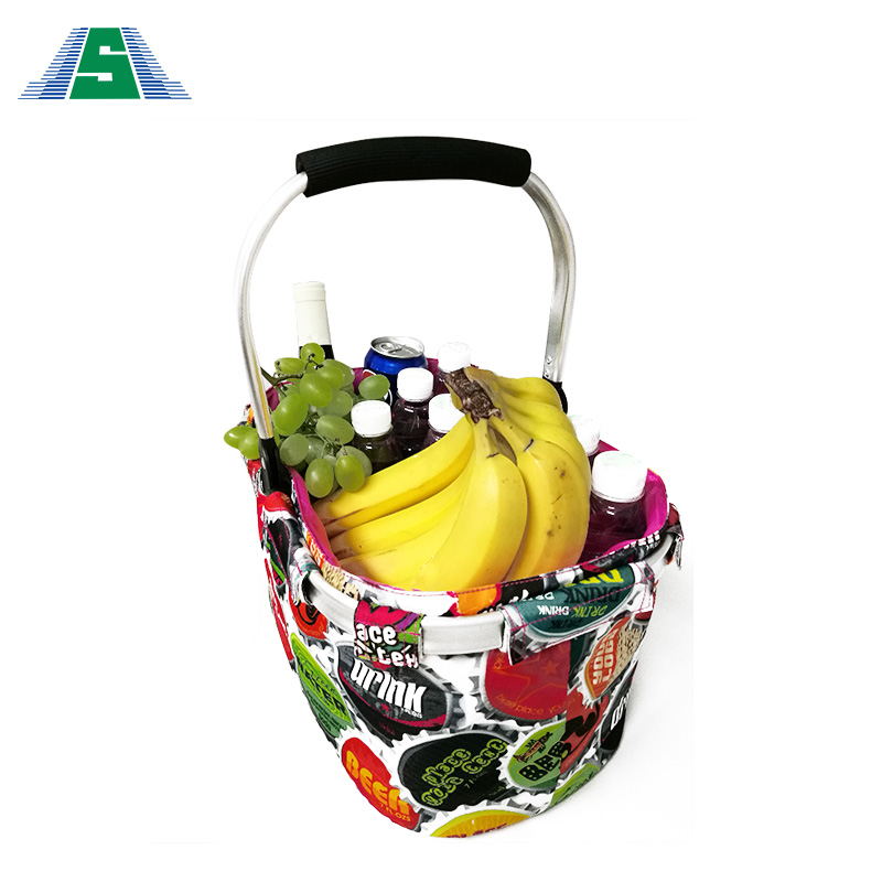 Durable plastic folding cheap picnic plastic vegetable basket set