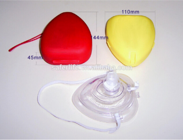 CE FDA approved medical CPR face shield kit with box emergency cardiopulmonary CPR mask kit CPR kit