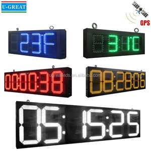 LED Digital Clock/LED Countdown Timer/ LED Stopwatch with GPS Control