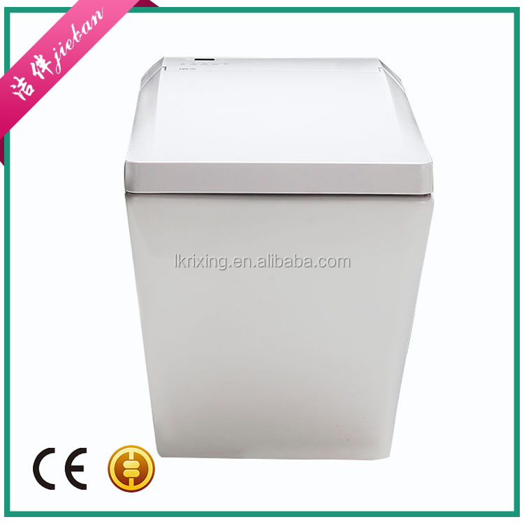 One piece toilet square shape electric toilet