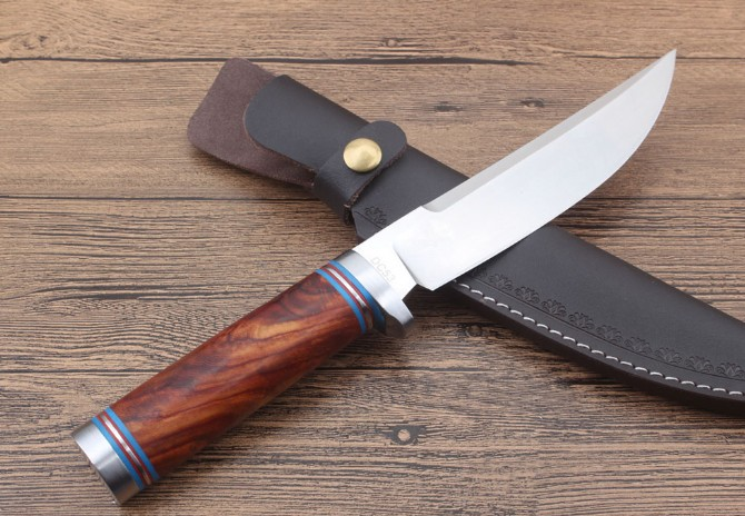 Rare wood Handle Wild Ox Hunting Knife Collection Knives Outdoor Tool Dropshipping 2761