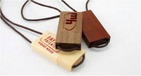 customized wood necklace promotional gift wood usb flash drive 16gb