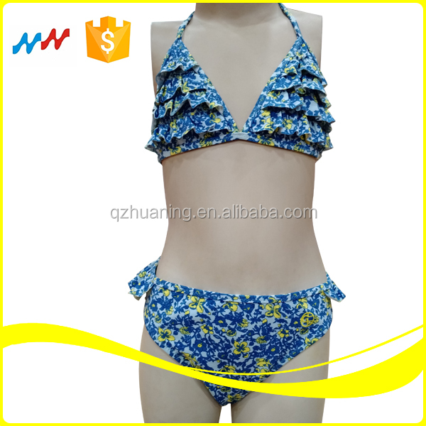Hot Sale Little Girls Sexy Frilly Bikini