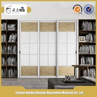Flexible 3 panel sliding wardrobe closet doors