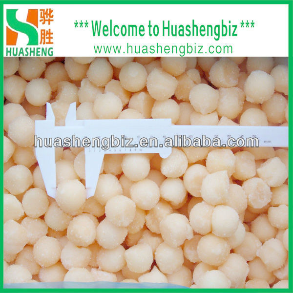 Wholesale Frozen IQF Organic Yellow melon ball