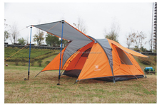 Hot Sale Aluminum Pole Large Double Layer 4 Person Waterproof Mountain Tent, LY-005,4 Person Outdoor Retractable Tent