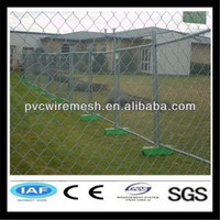 Hot Galvanized Chain Link temporary fence(ISO9001)