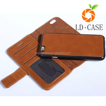 Alibaba stock flip leather cover wallet waterproof phone case custom for Iphone 6S