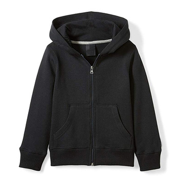 Wholesale Bulk Men Hoodie Unisex Plain Black Zip Up Hoodie Custom Printing 60 Cotton 40 Polyester Hoodie With Fleece