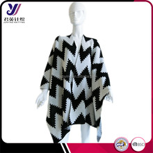 Cheap 100% acrylic jacquard knit wholesale winter pashmina shawls and poncho scarf
