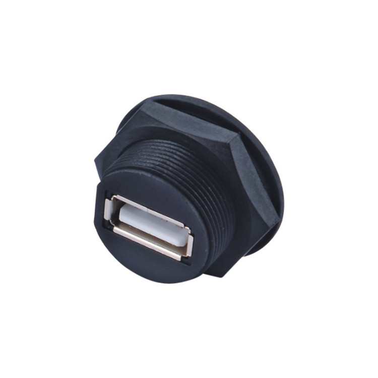 Waterproof Usb2 0 A Type Female Connector Usb Panel Mount