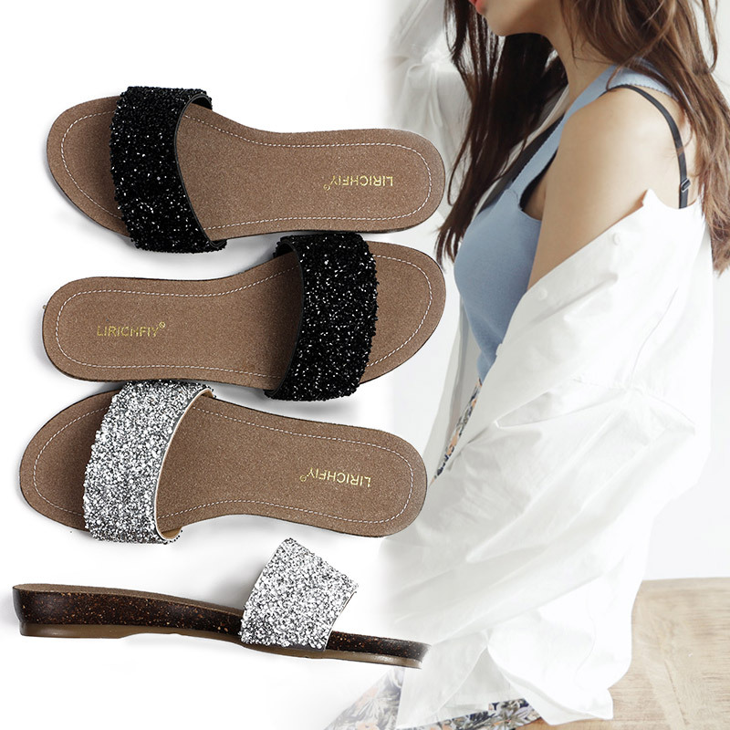 2015 wholesale new design pvc slipper with diamond
