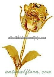 Cute Gold Plated Rose