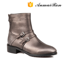 stylish vintage brush leather women womens ladies shoes flat ankle boots