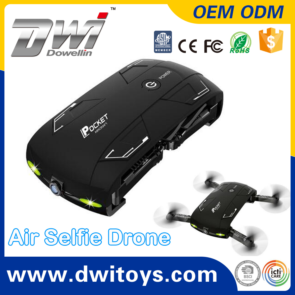 DWI 2.4G 4CH 6 Axis Folding Pocket Drone Selfie Air Drone WIFI FPV Flight Path G-sensor Phone Control vs jjrc drone