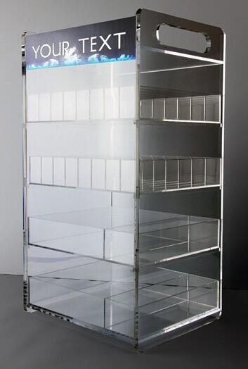 Ejuice Glass Bottles E Juice Rack Display Case Ecig Vape