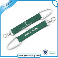 2015 best quality carabiner hook short lanyard strap with embroidery keychain
