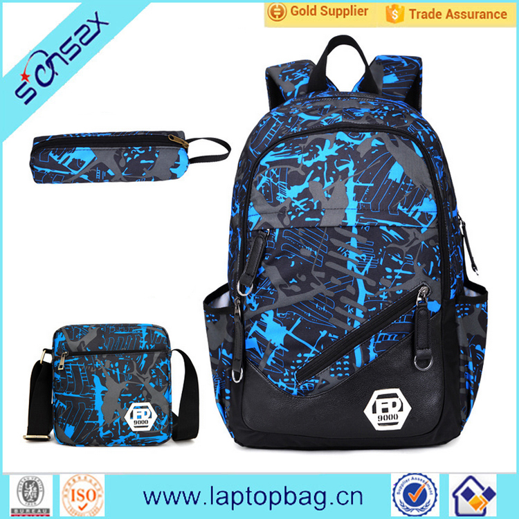 Alibaba hot selling teenager students leisure good quality latest school bag set