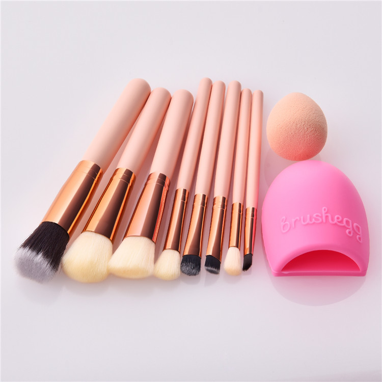 8pcs makeup brush set with cleaning egg and sponge multifunctional makeup kits