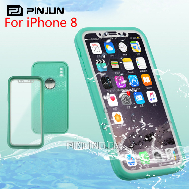 Shockproof waterproof mobile phone cover for iphone x case 360,waterproof phone case for iphone x