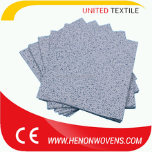 Lint free meltblown nonwoven fabric for industrial cleaning with Crows Foot