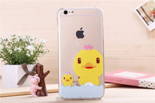 "Lovely Ultra Thin Transparent Rubber Duck TPU Back Case For Apple iPhone 5/6 4.7""/6 plus 5.5"""