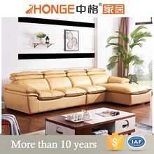 drawing room furniture l shaped 4 seater low price real leather corner sofa bed set