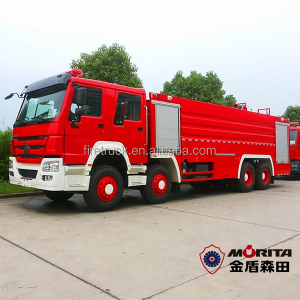 8X4 HOWO 23500 litre fire truck manufacturers europe