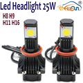Durable C ree Chips Auto Led Headlight 25W 1800lm Waterproof Vehicle Conversion Bulb
