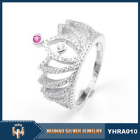 2016 fashion single lucky stone ring design sterling silver 925 italy jewelry