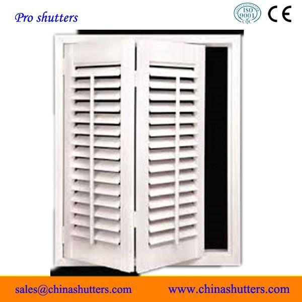 Door To Door Delivery Folding Interior Shutters With Aluminium Insert Buy Folding Interior