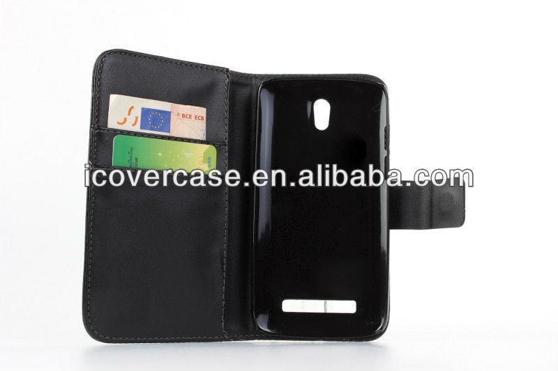 Wallet Leather Case For HTC Desire 500 Flip Cover with Card Slot Handbag