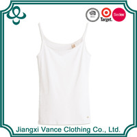 cheap custom wholesale 100% cotton hot girl sexy camisole white tight plain tube tank top camisole