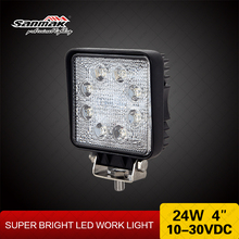 "Truck Parts Spare 4"" LED Work Light SUV 4x4 24W Truck 24v Spotlight Led"
