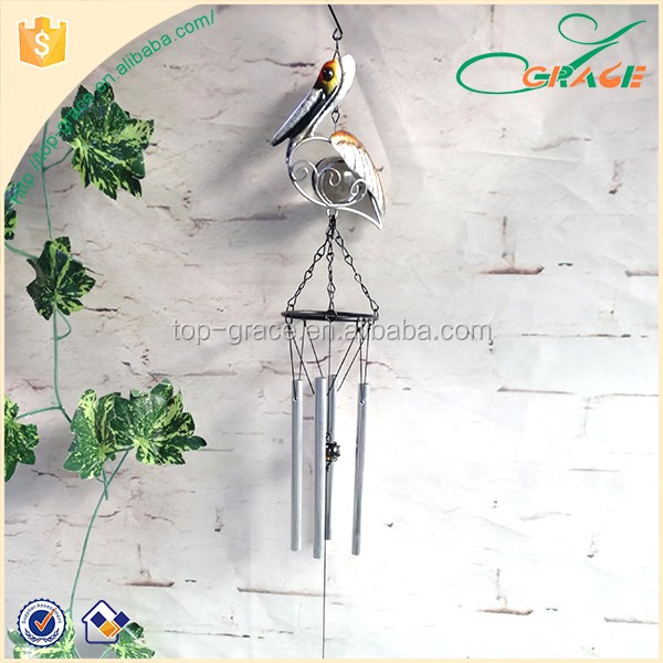 US hotsell Cute Garden Metal Pelican Wind Chime Wholesale