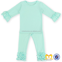 Cotton Aqua Tight Ruffle Pant Shirt Wholesale Winter Clothes Baby Icing Pants Bulk Wholesale Used Clothing Kids Boutique Clothes