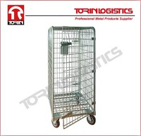 Steel wire mesh cargo rolling containers (L710*W810 mm/OEM)