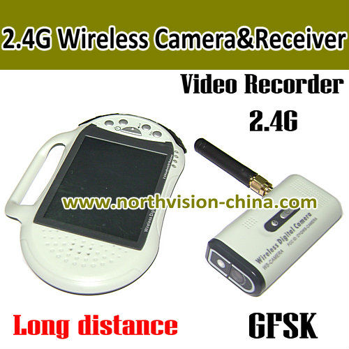 2.4GHZ wireless camera receiver with 2.8 inch lcd monitor, video recording, support tf card