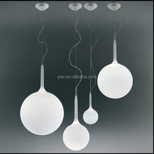 New modern simple earth pendant lamp restaurant decorated chandelier white glass ball hanging lights
