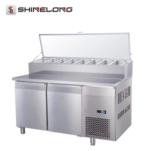 Commercial Stainless Steel Refrigerator Salad Sandwich Pizza Prep Table
