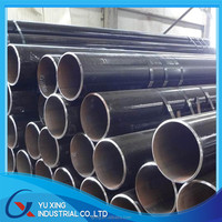 Tianjin manufacturer tMS ERW black round steel tube price /welded steel pipe/mild steel pipe Q235 A53 SS400 ISO certification