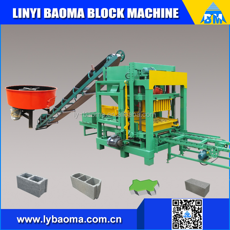 QT4-25B concrete interlock blocks making machine/ hollow block machine