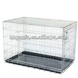 Silver Coated Crate/folding crate /cage trained dogs, or supervised dogs