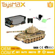 Small Plastic Toys Manufacture Novel Eco-Friendly Electric 40M German Tiger King Tank Army Rc Shooting Tank