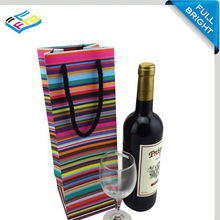2016 hot sale high quality luxury laminated wine packaging bag paper wine bags paper gift bag
