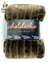 High quality blanket factory china solid color PV plush faux fur throw/mexican blanket