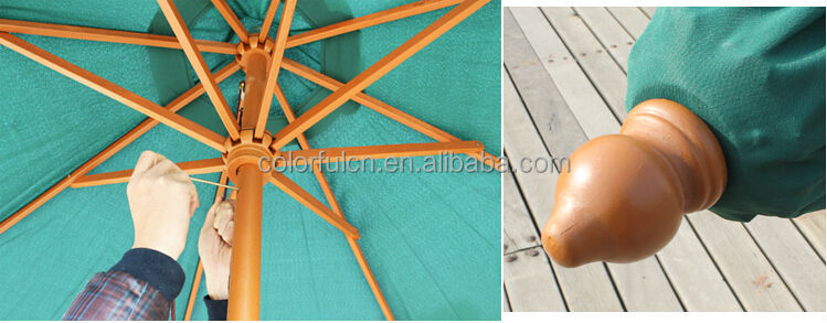hot fashion 2.7m patio foldable beach umbrella DH-3001